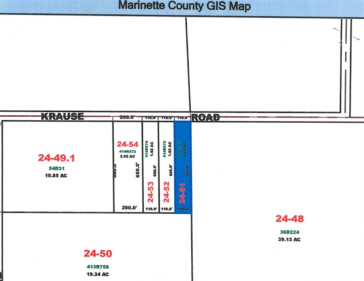 View Vacant Land For Sale at KRAUSE ROAD, Marinette, WI
