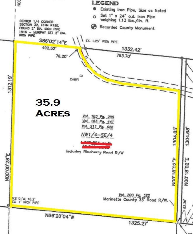 View Vacant Land For Sale at W11135 BLUEBERRY POINT ROAD, Dunbar, WI