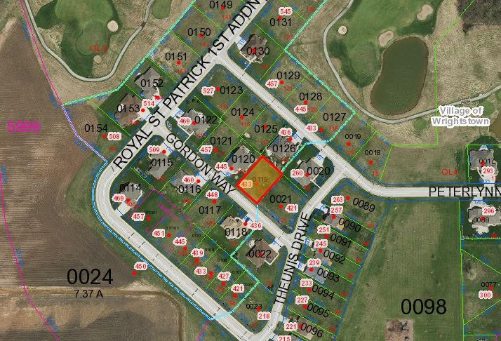 View Vacant Land For Sale at 433 GORDON WAY, Wrightstown, WI