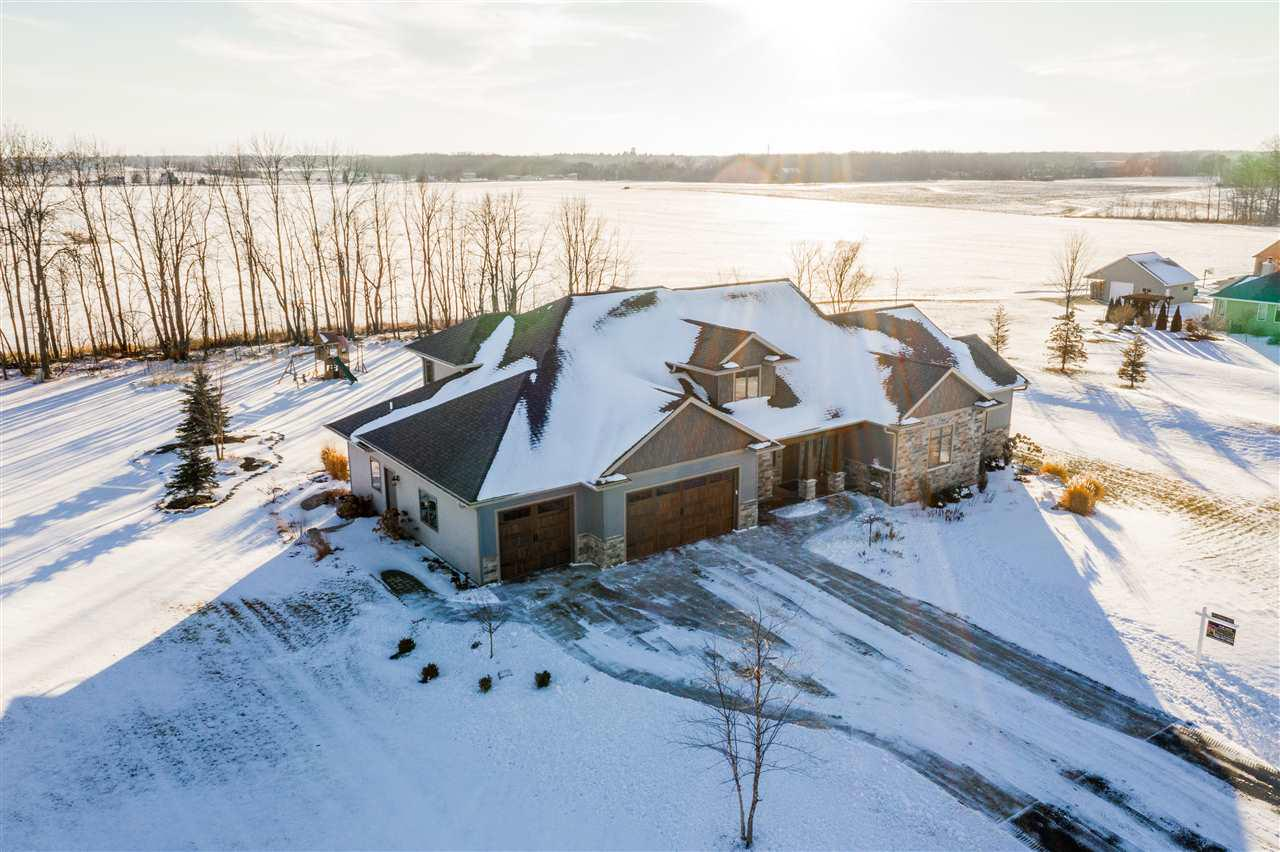 View Single-Family Home For Sale at W4217 DEL ROSE LANE, Appleton, WI