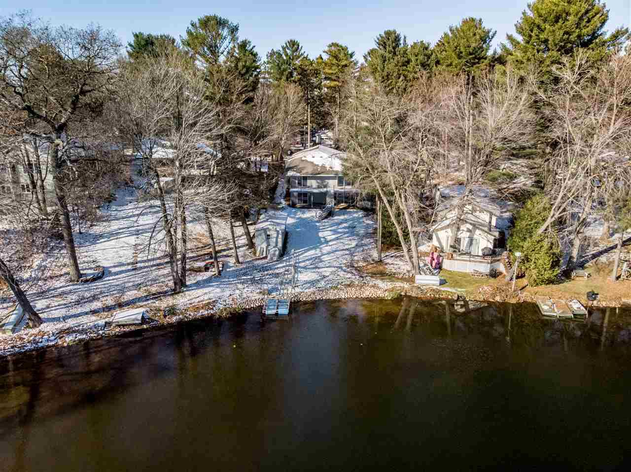 View Single-Family Home For Sale at N2878 ISLAND VIEW DRIVE, Clintonville, WI
