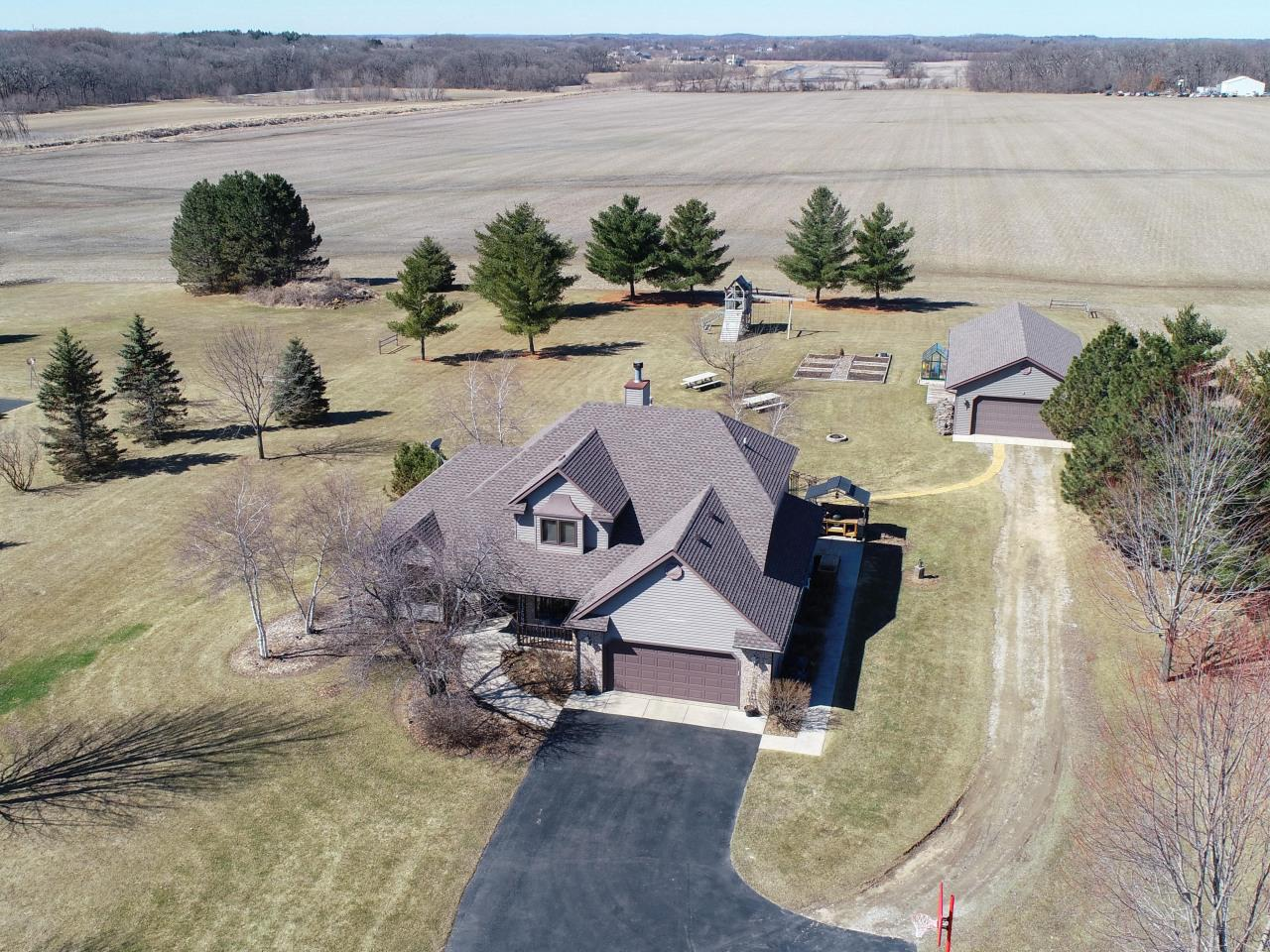 View Single-Family Home For Sale at 3820 Jacobs Rd, Waterford, WI