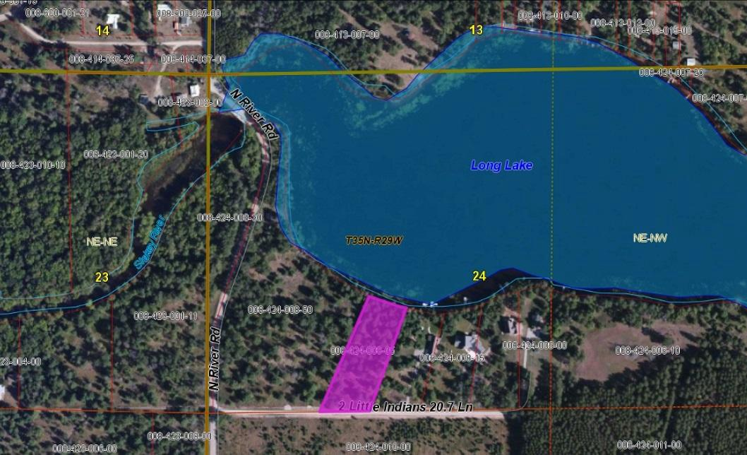 View Vacant Land For Sale at 1.6 Acres Two Little Indians Rd, LAKE, MI