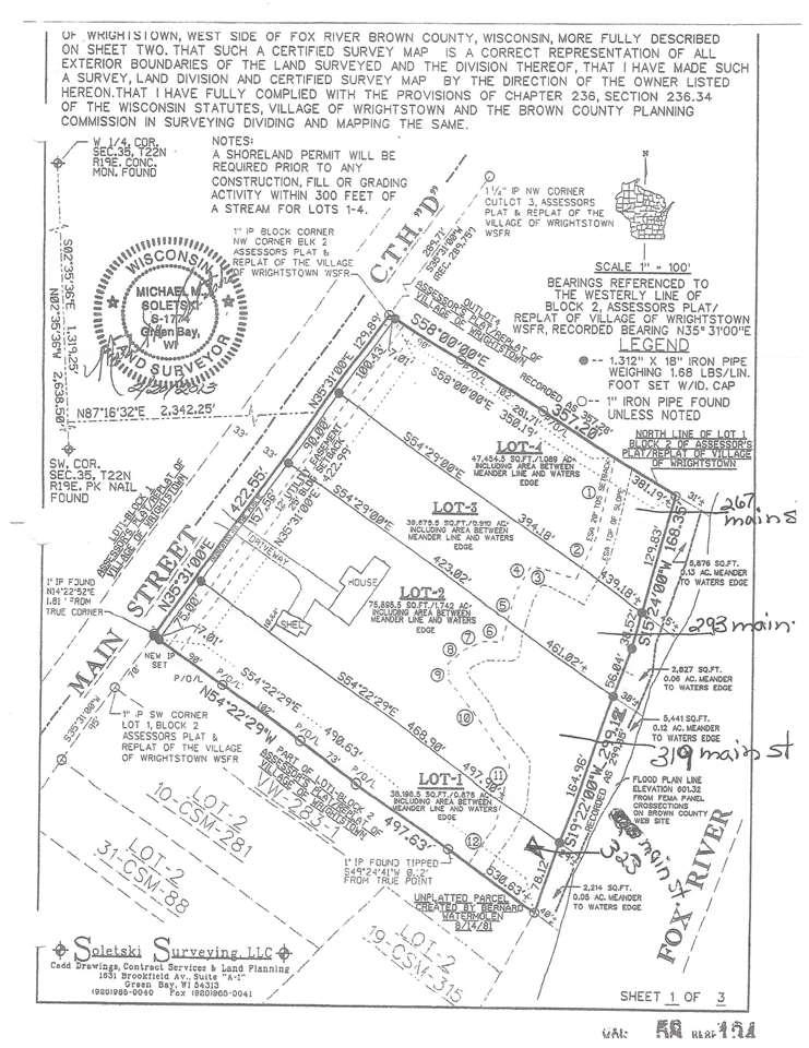 View Vacant Land For Sale at 267 MAIN STREET, Wrightstown, WI