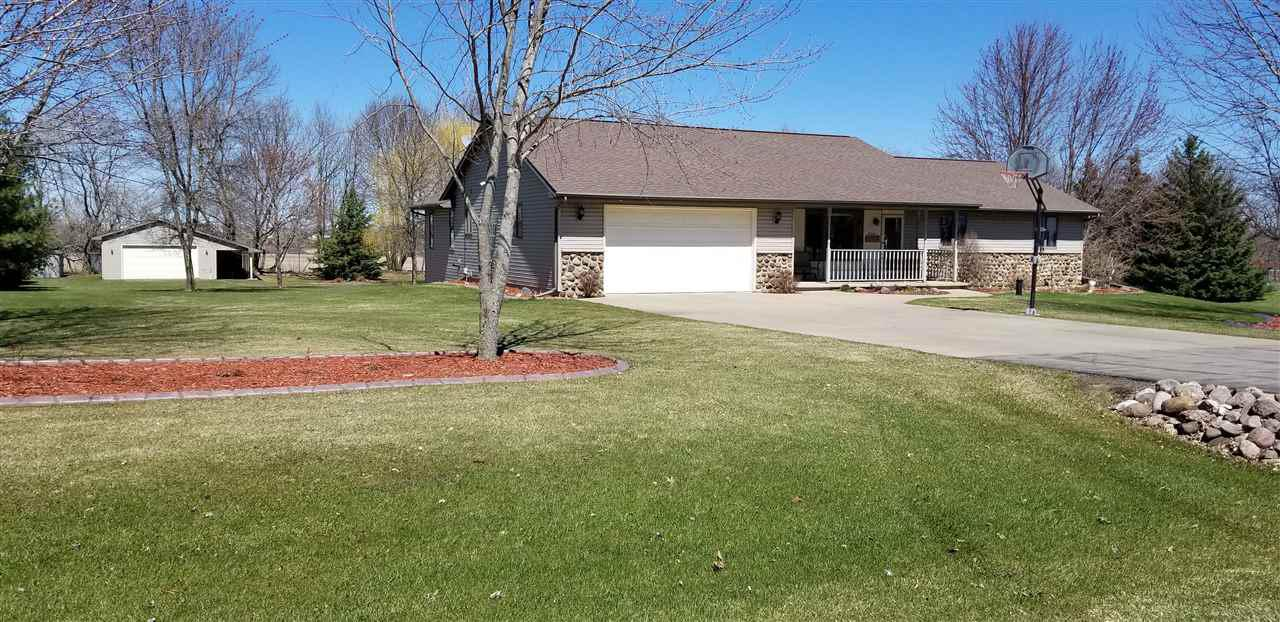 View Single-Family Home For Sale at W9360 OAKWOOD DRIVE, Hortonville, WI