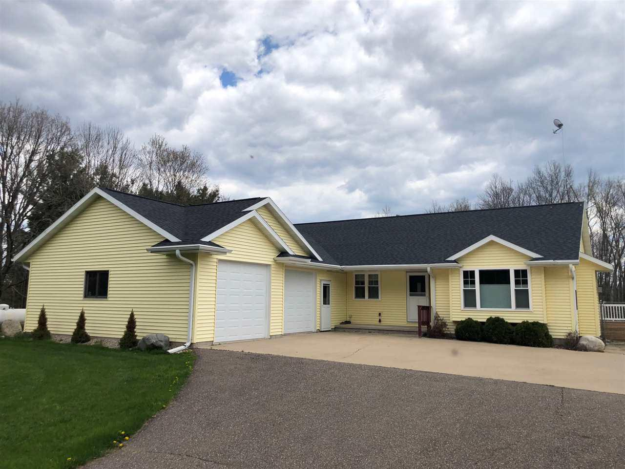 View Single-Family Home For Sale at 8392 CLAY ROAD, Suring, WI