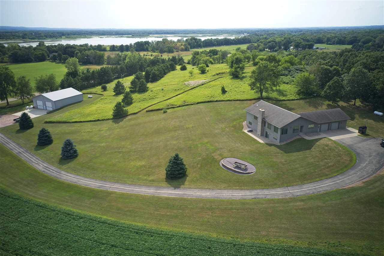View Single-Family Home For Sale at W9840 County Road X, Portage, WI