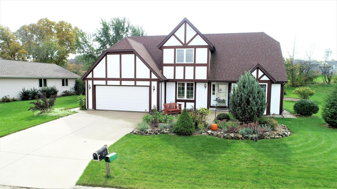 Fantastic 4 bedroom home--first floor master suite w/walk in closet -great open concept feel from kitchen to family room with natural fireplace and a beautiful vaulted ceiling--step into an eat in kitchen--loads of cabinets--all appliances--first floor laundry/half bath--plenty of closet space--open foyer(cathedral)--3 roomy bedrooms up stairs and second full bath--hallway features a sky light for natural light--freshly painted exterior,dimensional roof(approx)5 yrs,full basement 12 course block. Beautifully landscaped backyard features many perennials, fruit trees, & small gardens  along with a concrete patio.  Home has a concrete drive that sits on a dead end street(Quiet) This is a great house looking for a value minded person--Come see me !!!!