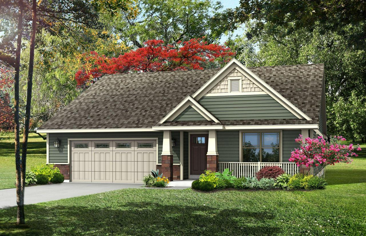 Stunning craftsman-style Hemsworth ranch model in Heartland Village subdivision and within desired Gifford Elementary/Middle school boundaries. The open floor plan features an expansive great room and kitchen with dinette. Split bedroom design! This home's upgrades include granite countertops throughout, 6-panel doors and maple cabinets in the kitchen with crown molding and staggered heights and depths. You will be impressed with both the beautiful covered porch in the front as well as the craftsman-style garage door with windows.