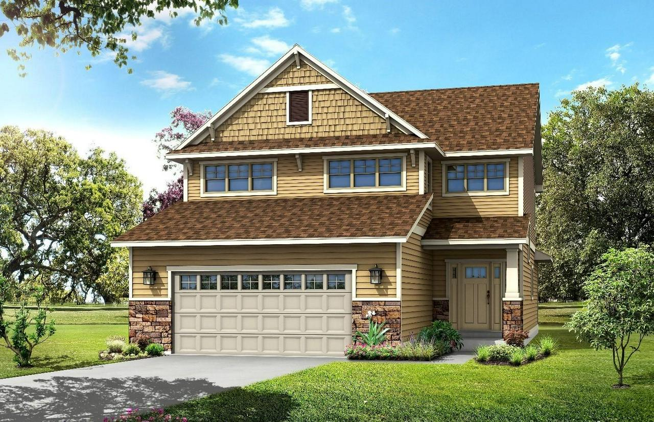 Beautiful Craftsman/Prairie-style 2-story new construction in Heartland Village subdivision. Dramatic, grand foyer upon entering this home! This open concept design is bright and inviting and features a large great room, and kitchen with island. The attached dinette features excellent natural light to make meal-time and entertaining both convenient and comfortable! There is also a tremendous amount of closet and storage space throughout the home as well as a main floor powder room and laundry room. The upstairs offers 3 bedrooms. Comfortable master suite with walk in closet and double sinks.