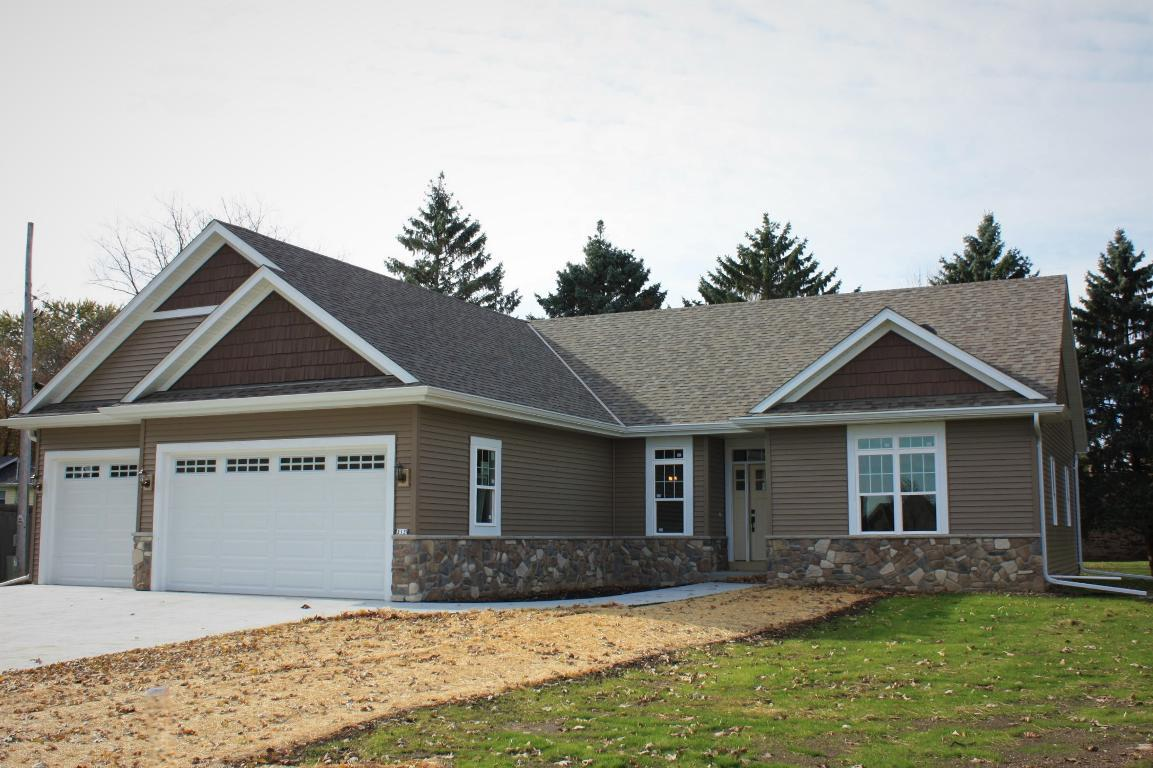 NEW CONSTRUCTION ready for occupancy.  Be the 1st to own this split ranch on no thru street with view of Bristlecone pines golf course. Home features mud/laundry room off 3 car garage, kitchen filled w/maple cabinets, corrian counter tops & stainless appliances, dining area w/french patio door to spacious deck, living room w/gas fireplace & coffer ceiling w/crown, open staircase to basement at front entry, master suite w/walk thru closet filled with shelves and poles, master bath has double sink vanity w/Corian counter, glass shower door on shower stall and tile floor.  Main bathroom has single sink, SOT with glass door & tile floor.  Engineered wood floors throughout main areas & bedrooms.  Carpet on stairs leading to basement. Water softener & radon mitigation system included.