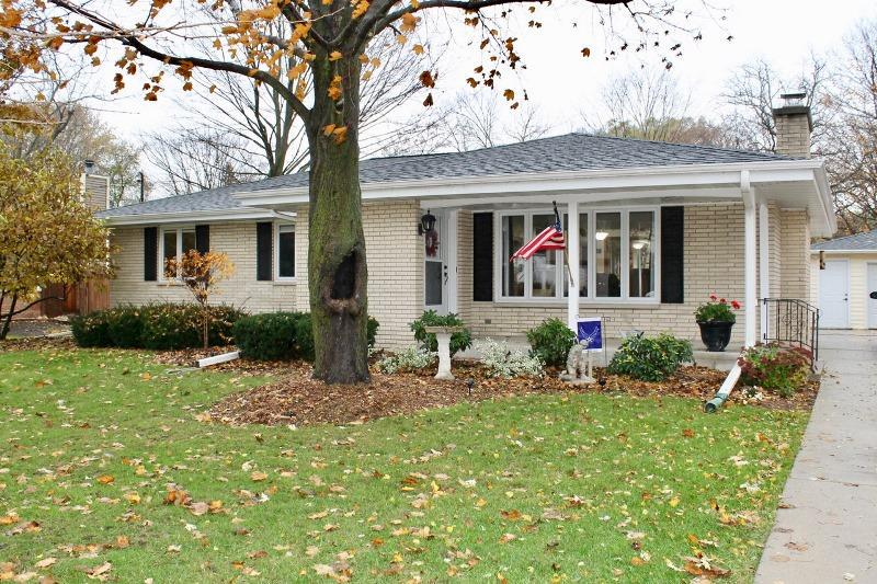 All brick ranch home with 1944 sq. ft. of living space features beautiful hardwood floors throughout home plus amazing views from all windows. Living room has a natural fireplace great for those long winters in WI. Kitchen has plenty of cabinets with lots of windows providing plenty of daylight. This home also has a bonus room 7 x 11 in the back entrance which could be used as a mudroom or office. Basement has been partially remodeled with dry walled ceilings and large 7 x 7 closet. Backyard is very spacious and totally fenced in with large concrete patio that will serve you well when you entertain friends in the summer.