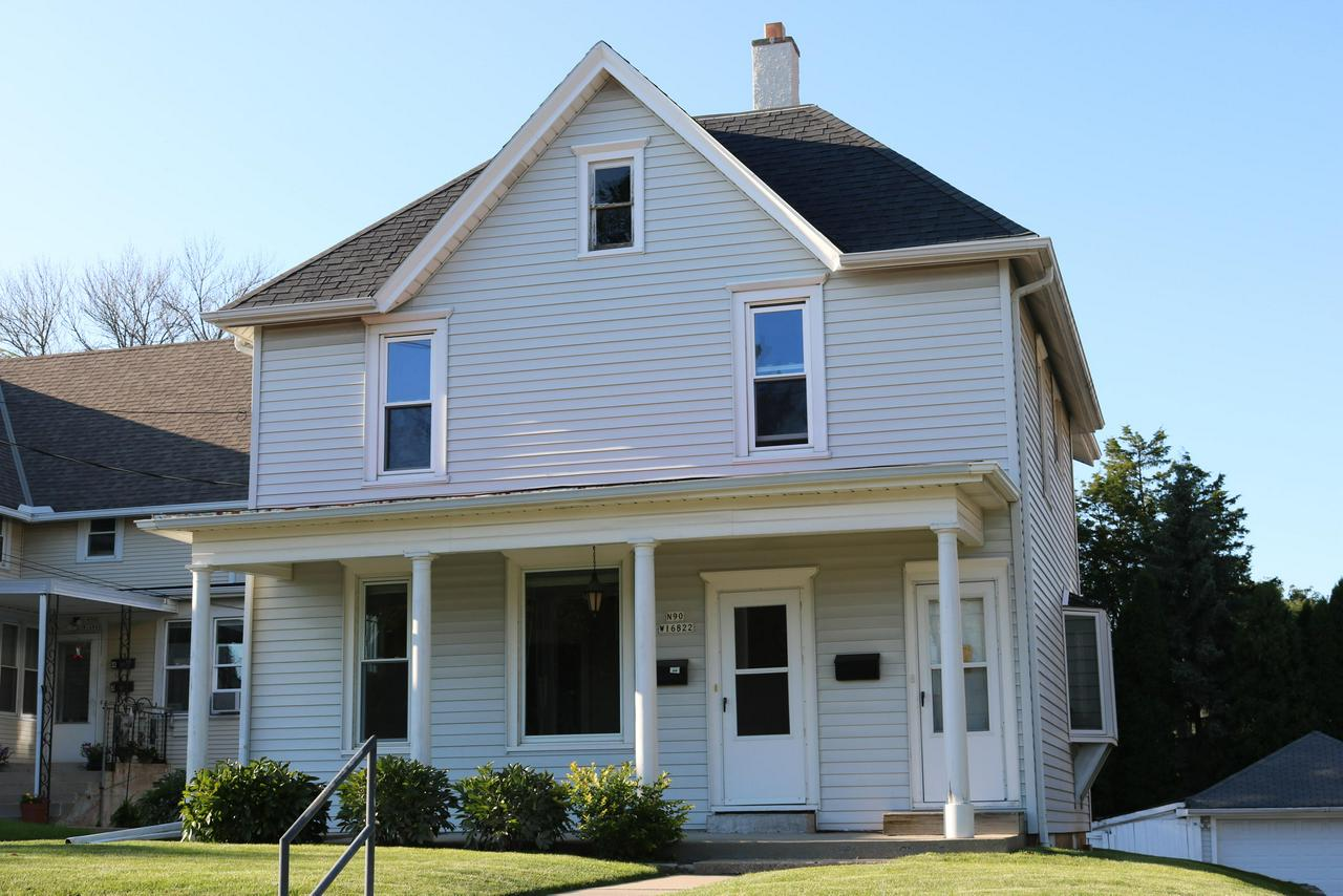 Beautiful Falls Victorian with old world charm and tons of space. Meticulously maintained with spacious rooms, high ceilings, classic woodwork and huge closets! Dining room has a lovely bay window. Large garage plus storage shed and spacious driveway for turn arounds or extra parking.  Patio and deep yard for play! Solid and sparkling! This home is easily converted with removal of a door panel at the staircase.  Ready for you to move in before Christmas! Second kitchen could be your delightful second floor laundry!