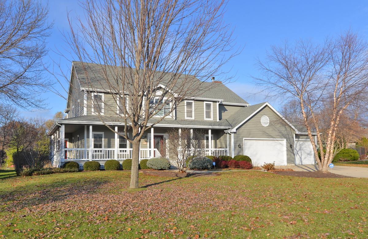 Great house, great location , great price! This spacious 4 bedroom, 5 bath home on a private pond is sure to please! Hardwood floors, formal LR and DR, Sunroom overlooks pond and private back yard, large Kitchen opens to cozy Family Room with fireplace, 1st floor Laundry. Upstairs you'll find 4 bedrooms and 3 full baths including luxurious Master Suite with 2 walk in closets and spa inspired bath PLUS Guest Suite with attached bath. Finished LL offers additional living space including Rec Room, Game Room and half bath. 3 car garage, sprinkler system, large patio, close to Lake Michigan and Prairie School, easy access to Milwaukee. So much more to love.....Call today!
