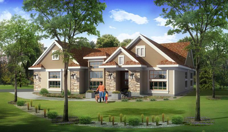 Remarkable NEW CONSTRUCTION contemporary/craftsman ranch. A big main floor has 2,300 sq. ft. of 4-bedroom space. The lower ''look-out'' level has another full bathroom, bedroom and approx. 1,200 sq. ft. of additional finished rec room, wet bar & theater space. No one does contemporary (with a sense of old charm) like home designer Tom Hignite. The great room is likely the biggest open-concept you'll see and both great room and master bedroom view onto a wooded preserve backyard. This is a sizable lot that looks even bigger with this non-buildable (non-taxed for you) big acreage. View this home now in Wisconsin's second fastest growing community!