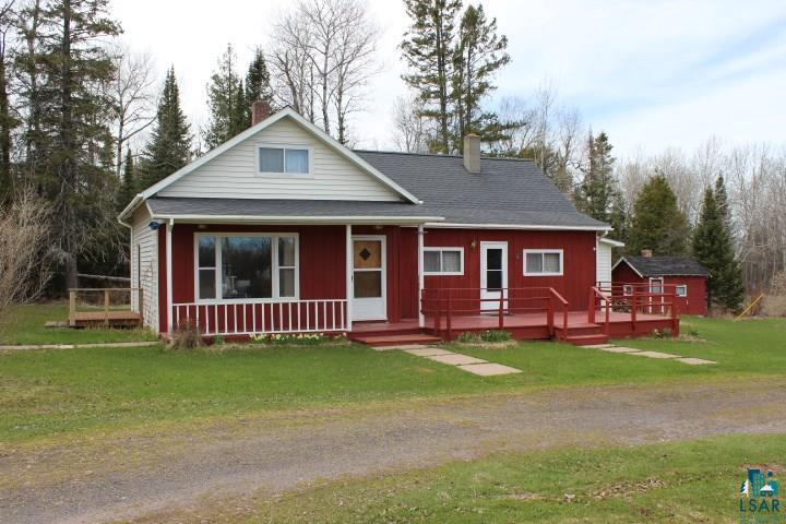3 bdrm, 1 bath traditional country home on 8.43 acres with 225' of frontage on Lake Superior. This home has been beautifully preserved. There is also a two car detached garage next to the house, an outdoor sauna and a couple storage sheds. Only two miles from the quaint little village of Herbster and 10 minutes from Port Wing or Cornucopia. Just up the road is the Bark Point boat launch and the Bark Bay Slough State Natural Area consisting of 522 acres. Property sits on the corner of Bark Point Rd and Hesse Rd. There is a nice trail wide enough to walk or take ATV down the waterfront. A lot of drift wood washed up during the last storms but seller had new steps put in at the bottom of the trail. Lots are surveyed.
