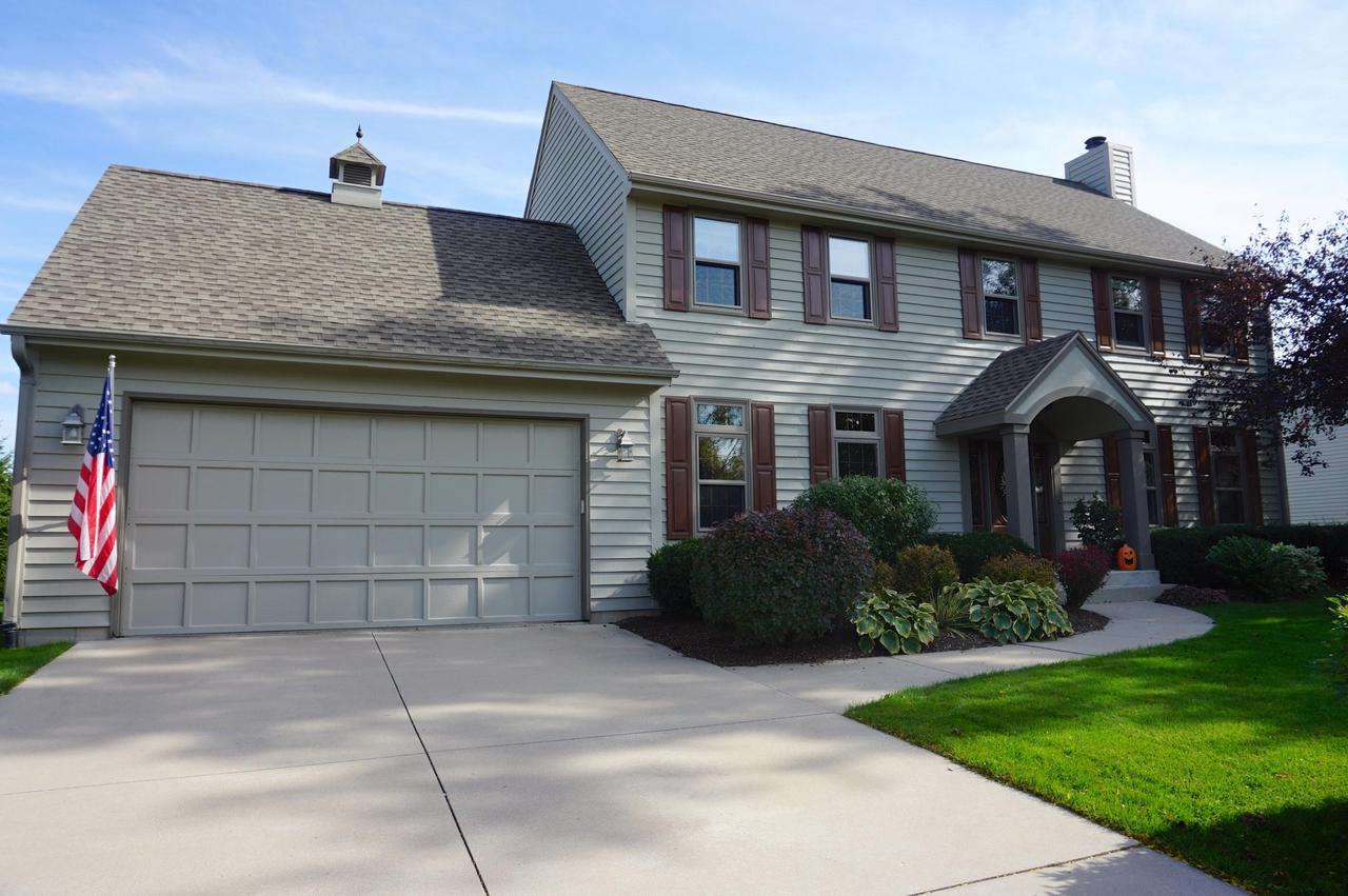 This impressive 5BR Colonial has SO much to offer! Located in the sought-after Eisenhower school district. Walk to Weatherstone subdivision park! Features 9' ceilings, HWFs, quality doors & Marvin windows throughout, well manicured lawn/landscape. Bright & spacious LR with stone FP & french doors. Large KIT with granite, tile backsplash & SS appliances. Main level laundry. 4 BRs upstairs including the huge MBR with walk-in closet and remodeled ensuite bath with double sinks & huge tiled walk-in shower. LL rec room with wet bar, plus 1/2 bath & large 5th BR. The large, flat backyard is perfect for entertaining - deck + an INCREDIBLE paver patio with built-in lighting & fire pit. Roof, windows & all mechanicals are new within the last 10 years. Home exterior was just professionally painted.