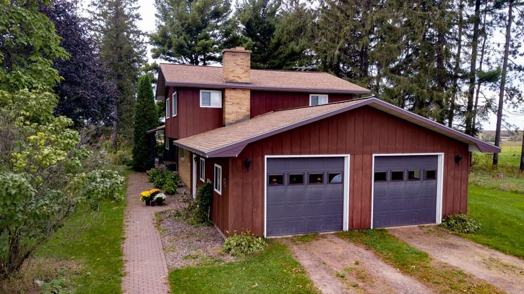Looking for a property that can check of some boxes: home, barn, outbuildings, fences, farmland, and hunting any of them? Look no further than this 155 acre farm set up for cattle or goats and horses! The home features 4 bedrooms, 2 bathrooms, with nice large living spaces and a two car attached garage. Outside, you will find a park like setting yard with a barn, storage shed, machine shed, a grain bin, lean-to, and plenty of fenced in spaces for your animals. Easy to find, conveniently located between Cadott and Cornell off of Hwy 27. Properties like this do not come along often! Call today for your private showing!