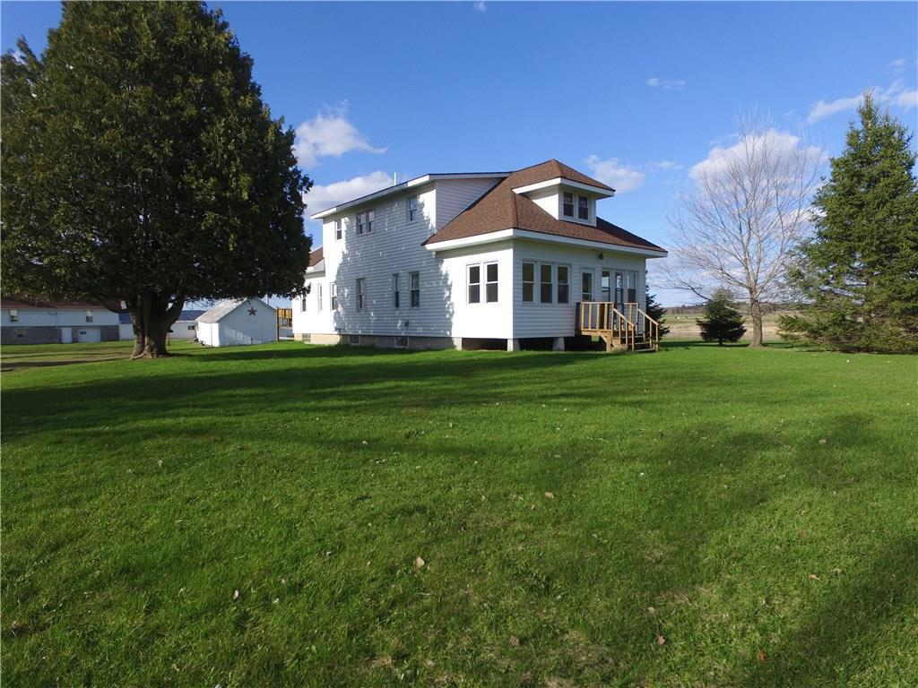 Family friendly Hobby farm with immaculate turn key home. Something for everyone. Trophy Whitetail and Blackbear hunting, ATV and snowmobile route. Elevated platform for wildlife observation or hunting on back 40. Inside you'll find a great room concept down, wood floors, custom ceramic's, drystack fireplace, gourmet kitchen.  Dairy barn w/loft converted to basketball court. Storage for any amount of equipment or toys. Dozens of Blue Diamond Area Lakes w/boatlandings nearby. Incredible!!!!