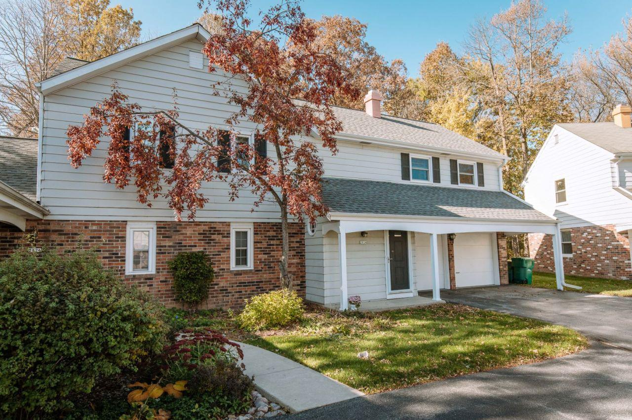 High-end neighborhood and lifestyle in an affordable, impeccably updated 2nd floor condo!  Walk the quiet streets through River Club and come home to your cozy living room with cathedral ceiling, wood beams and natural fireplace. Association takes care of the grounds and current owner has taken care of the rest. Updated, eat-in kitchen, main floor laundry. Open concept eat-in kitchen to formal dining, flowing nicely to living room.  Beautiful, updated full baths and spacious bedrooms. 2nd fl offers additional security.New 200 Amp elect panel. New SS appliances, Furnace,AC,roof and windows all replaced in last 10 years.  The cleanest 2.5 car garage you've ever seen!  Charming, private patio overlooking mature woods plus private 2nd fl balcony.  Gorgeous! Ideal lifestyle in ideal Mequon loca
