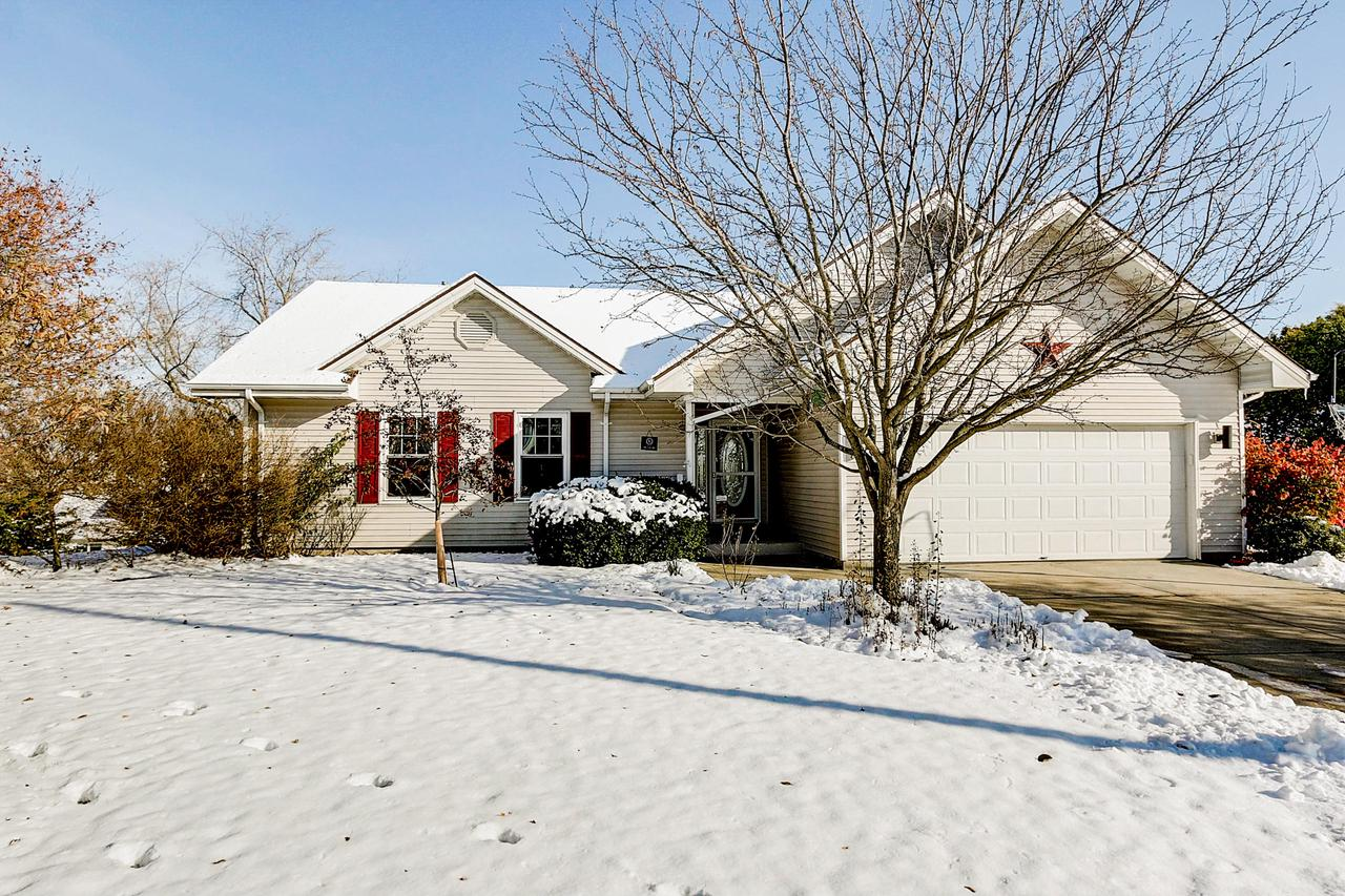 $279,900.  Just in time for the holidays!  Welcome home to this IMMACULATE 4 BEDRM/3BA Ranch close to Parks, Schools and Downtown West Bend!  Open Concept design boasts Cathedral Ceilings and sweeping views through multiple picture windows!  Enjoy cooking at home again in the incredible Chef's Kitchen complete with Granite Countertops, HWFs, Center Island and an awesome all-inclusive appliance package!  Romantic and lavish Master Suite features beautiful cherry HWFs, cathedral ceiling, WIC and private BA with Granite Counter and dual vessel sinks.  Fabulous finished walkout Lower Level completes this perfect home package featuring a wet-bar, rec room, another Bathroom and 4th Bedroom!  Stamped concrete patio overlooks private tree-lined backyard.  Spacious 2.5 Car GAR! NEW Roof 2016!
