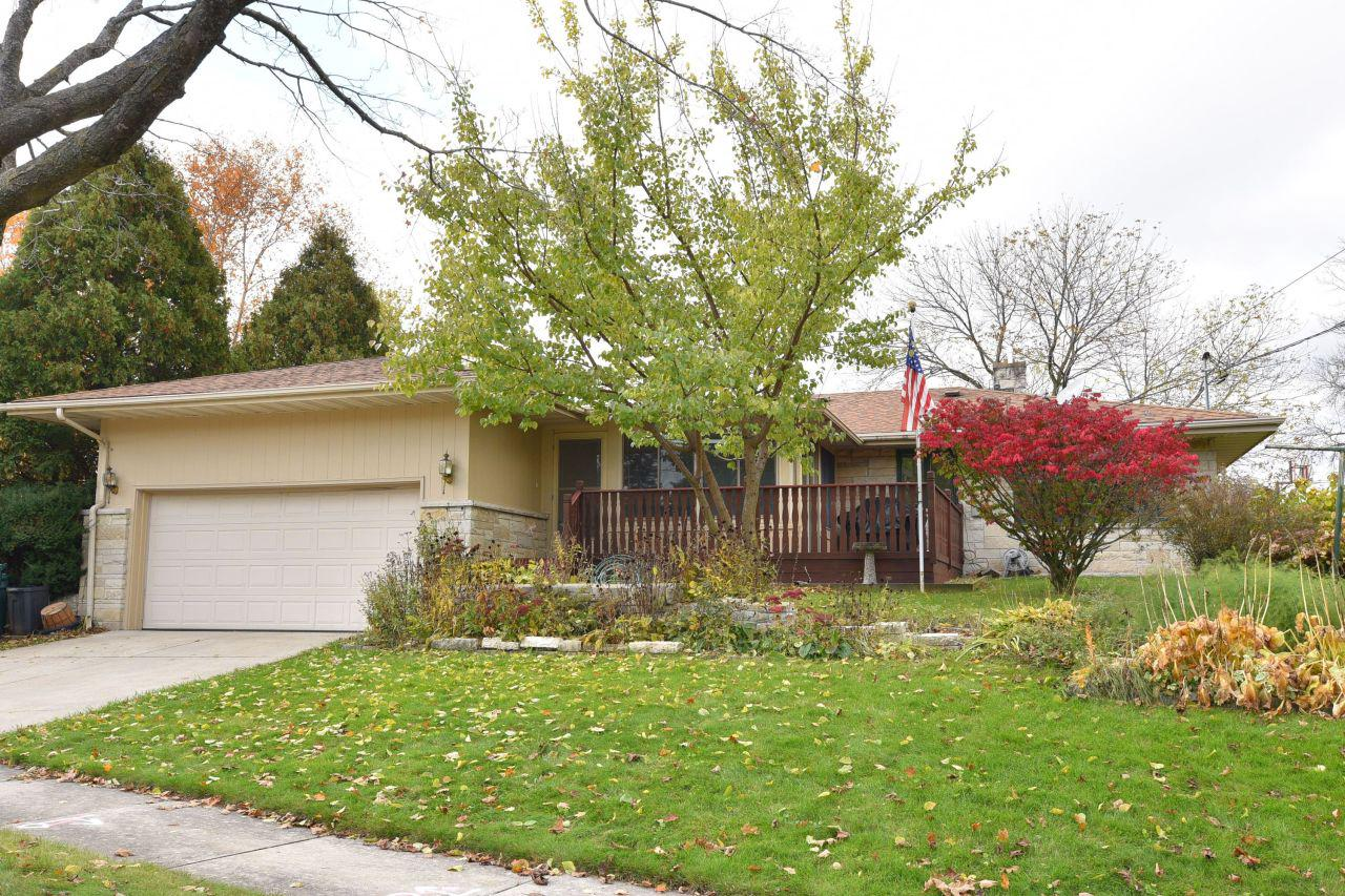 Charming 2 bedroom, 2.5 bath lannon stone ranch on a beautiful corner lot. Nestled in the desirable Northern Heights subdivision in Port. Custom touches galore: fruit cellar, built-ins, cedar lined closet, garage storage nook, 3 season room with skylights, hardwood floors in bedrooms, pantry, Corian counter tops, tons of basement storage and 1st floor laundry are some of the unique features here. Come see for yourself all the possibilities and future potential that awaits here! 1 year HSA home warranty included.