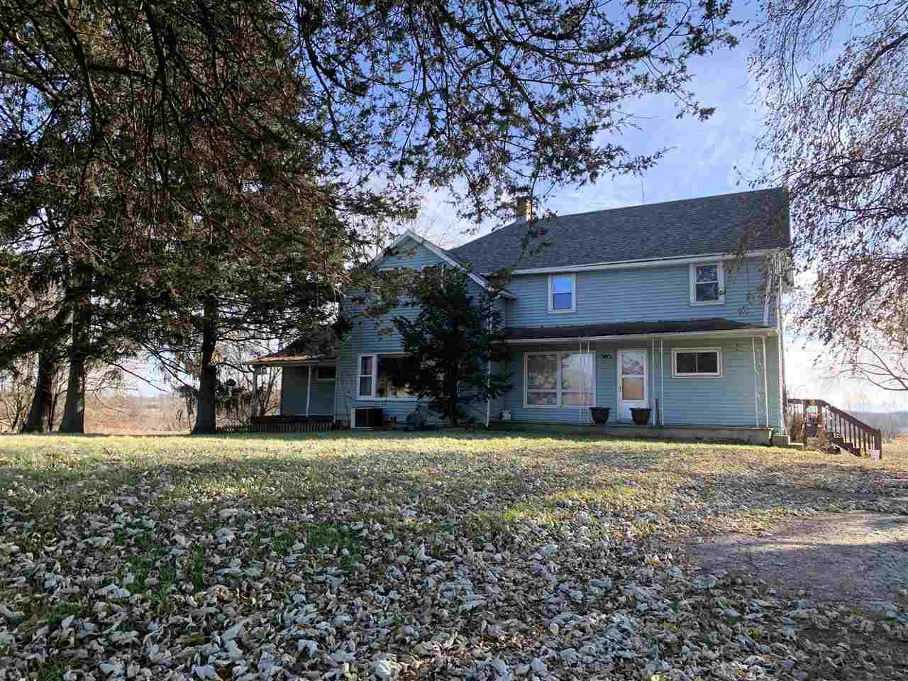 Set on 34.53 acres (14 MOL tillable), this property offers a large, partially remodeled, 4 bedroom farmhouse, 2 car garage, 2 story massive barn, 50x72 pole shed, pig barn, chicken coop with attached dog kennel, and the Batavia Creek runs diagonally across the whole property.,The home features 2 main floor bedrooms, 2 bedrooms upstairs, a completely remodeled main floor bathroom & laundry room, large remodeled kitchen, dinette area with a large picture window overlooking the pasture and creek, large dining with adjoining living room, and a walk up attic with 2 rooms for added storage.  The barn had a new roof and 2 new sides done in 2013 & a large portion of the floor was replaced this year.  Neighboring farmers rent the barn, pasture and tillable land, but can be broken.  This information is compiled from miscellaneous sources and is believed accurate but not warranted. Neither the listing Broker,Agents, Sub-Agents or property owner are responsible for the accuracy of the information. Buyers are advised to verify all information.
