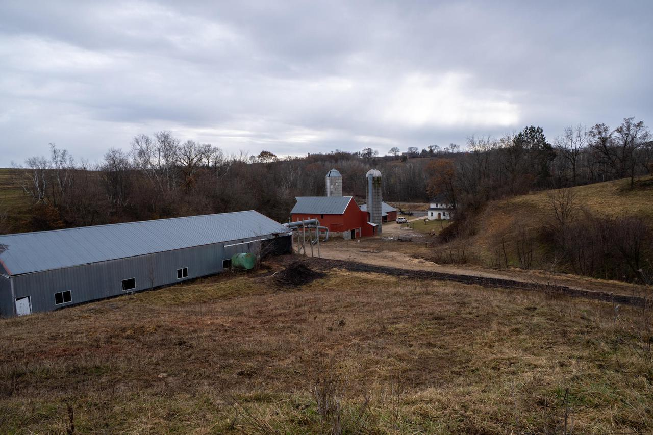 This 54 ac +/- has everything you need  to have your own self sustaining hobby farm. Several outbuildings to include a 36'x40' barn w/ lean to and feed  bunk, 45'x100' Pole Shed w/ concrete floor, 36'x60' Garage Shop, and an older large Dry  Cabin/Home present on the property. Building currently does not have plumbing, central  HVAC, or electric and there's currently 2 wood stoves for heat supply & well for water supply. There's roughly 25+/- acres of fertile ridgetop tillable acres,  aside from the 16 +/- ac of pasture that could easily be converted into more  tillable ground if desired. There is also 8+/- wooded acres made up of thick draws and  narrow travel corridors that would make great hunting locations!  Several Springs are also present.