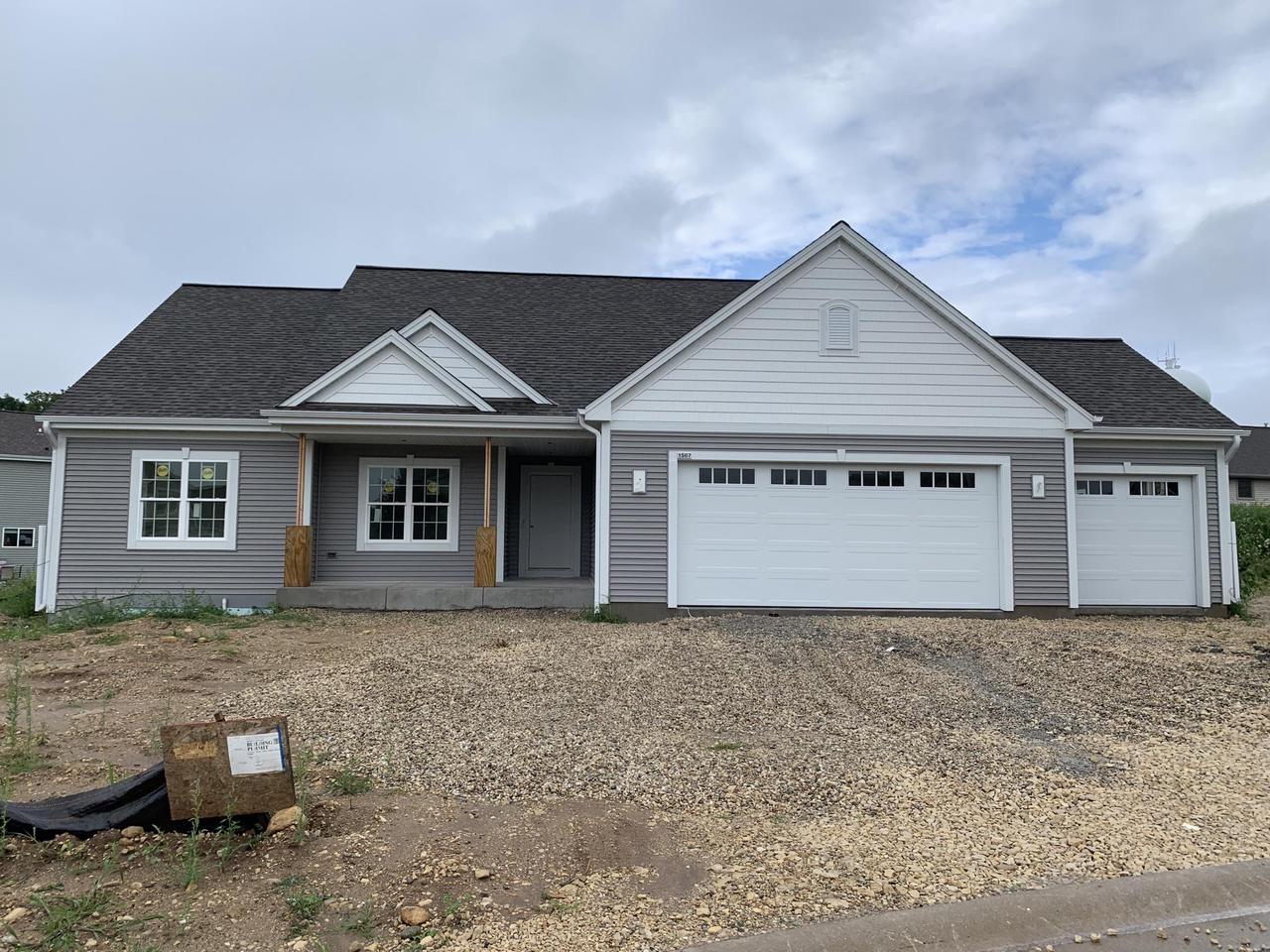 NEW CONSTRUCTION by Stepping Stone Homes. The Emery in Autumn Ridge will welcome you w/it's open concept. Superior quality w/2x6 exterior framing including amazing upgrades like soft close dovetail cabinetry, quartz/marble counter tops, double sinks in the bathrooms, upgraded flooring, 8 foot garage doors & more! This home comes equipped with Smart Home Technology, including integrated lighting, door locks, ecobee smart thermostat, video doorbell, Lift Master garage door, all of which you can control from your mobile device! Make sure your garage door is closed & the lights are off when you're away. Concrete driveway and lawn are included also!  THREE car garage and egress window.