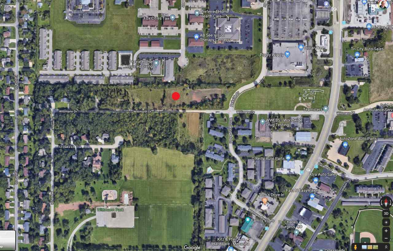 Nice 1 acre lot.  Suitable for single family or multi-family construction. Property is level with some trees on the boarder of the lot. Great location for access to Hwy 10 and Hwy 441.  Close to shopping and schools. This property is in the Village of Fox Crossing.