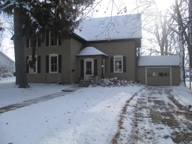3 Bedroom 1 bath 2 story home in New Holstein!  Large dining & living room! Good size kitchen! 3 bedrooms upstairs with full bath. Nice Yard 1 car attached garage.