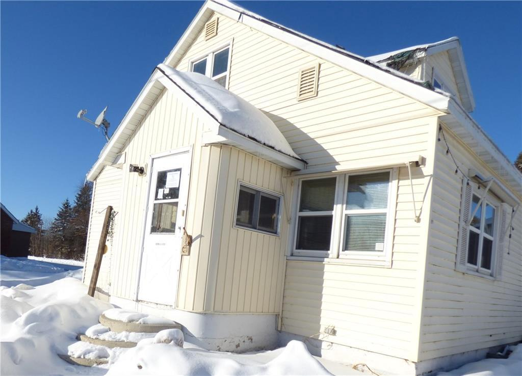Three bedroom, one bath home in Village of Radisson located near area lakes, public lands, and amenities in a popular recreational area.  Would make a good second home or rental property.