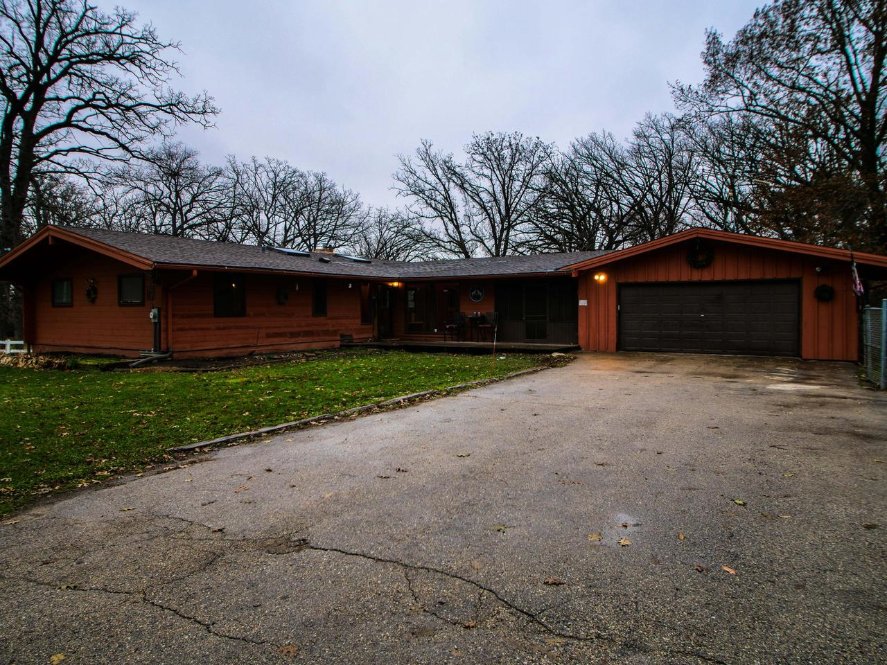 Come look at this fantastic 19.5 acre horse farm! Property comes with a horse barn that is set up to house up to 8 horses. Property also has small fishing pond behind house. Storage shed on property for all your extra toys. House is a spacious 1700 square foot floor plan with 3 bed room, 3 bathroom ranch home that is open concept. Walk out Basement with separate work room ready for your finishing touches. Home needs TLC but this property is worth the sweat! Home warranty included! Home is sold AS IS.