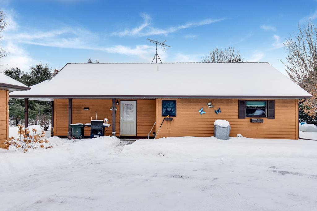 Well maintained country home on 4.3 acres. Relax in your large yard overlooking the waterfront of Gilbert Lake. 3 bedroom, 1 bath all on one level. Well maintained and move in ready.