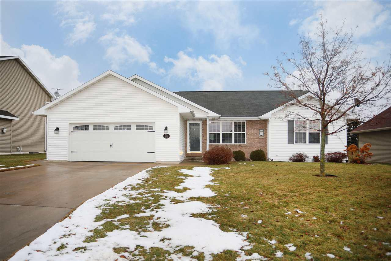 Appleton School District! This four bdrm, 3 ba home offers an open floor plan making the interior spaces of this home feel bigger and brighter. The main level features oversized LR with vaulted ceilings and gas FP, fully applianced eat in kitchen stocked with cabinetry and patio doors that lead to a patio, master suite offers private bath, two additional bdrms and a common bath, as well as first floor laundry. The LL is finished with lg rec room, office, fourth bdrm, and third bath. A 2.5 car garage and spacious yard complete this home.