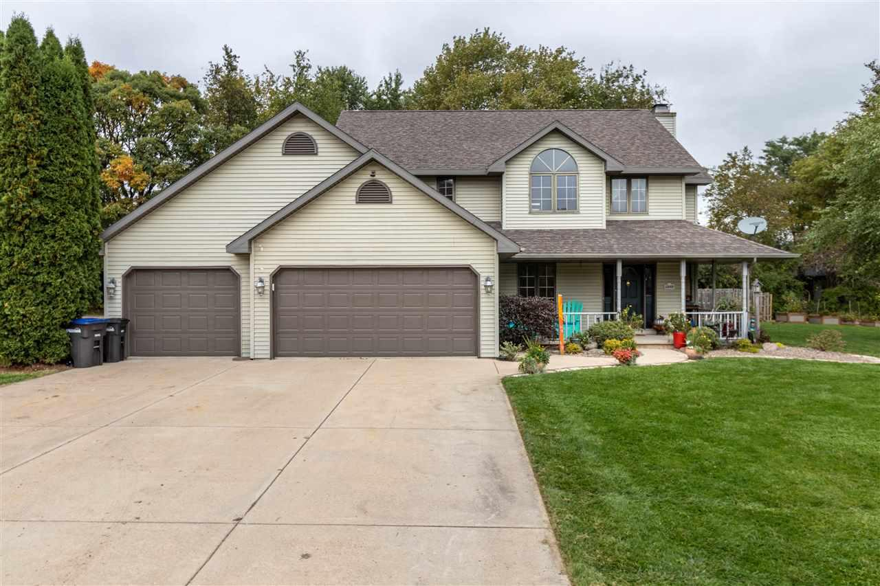 """Place this beautiful 4 bedrm home on your """"Must See"""" List! This lovely home offers a 2 story foyer, den w/french drs, large sunken great rm w/wd burning FP, Kit-dinette with pantry, island and patio drs to an entertaining deck. Enjoy lrg Master Suite w/Jetted tub & showr  Lower levl rec rm for movie watching and office w/egress window & closet  Other amenities are 1st flr laundry, 6 panel drs, C/A, culdesac Well for outside water Located on 0.41 AC site near school. MANY updates inc but not limited to new furnace in 11/2019"""