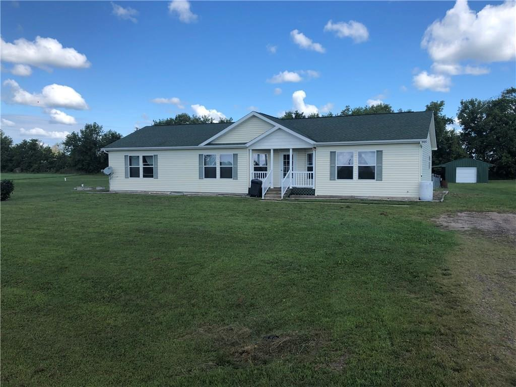 Been looking for  that nice home in the country? Check out this 3BR 2BA Ranch with an open concept situated on 1.540 acres. Features Include: Spacious Kitchen & Dining area. Living Room and Family Room on Main Floor. 1st floor Laundry, Fenced back yard with Stamped Patio from Walkout. 24X16 Pole Shed with 12x24 attached Lean-to. 26X62 Unfinished basement waiting for your finishing touches for more Bedrooms,Baths or entertaining. Close too Bike, ATV, Snowmobile, Horse trails. For the winter months Seller has plowed piles at the corners with flagging tape that represent Lot lines.