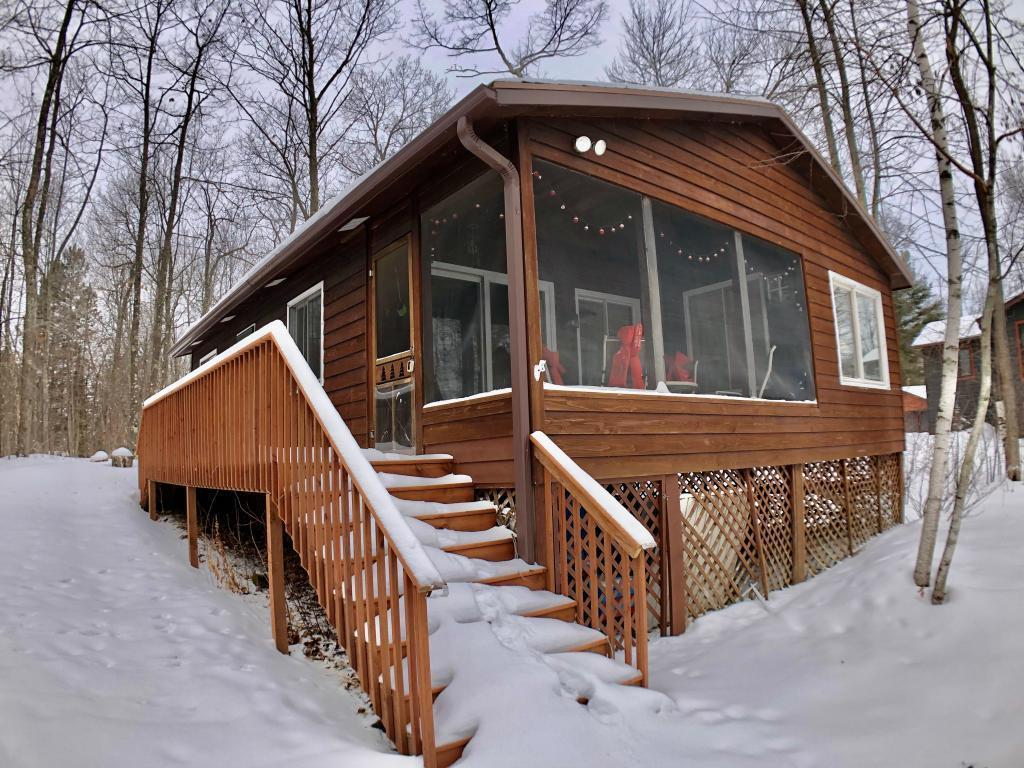 3-Season retreat on Whitefish Lake. 100 Ft. of swimmable frontage 2 Bedroom, 1 Bath with screened in porch.