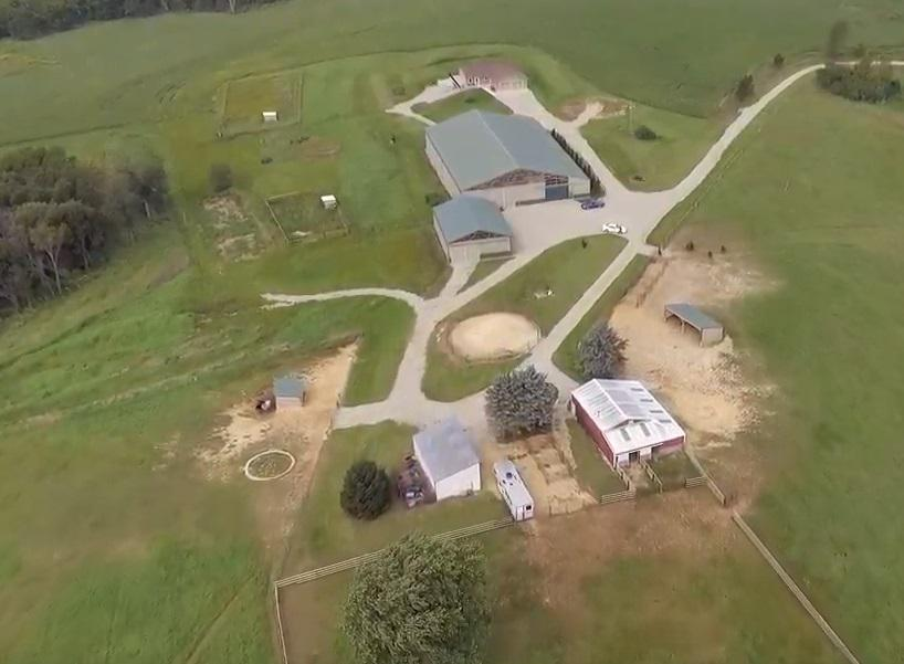 HORSE HEAVEN! Enjoy stunning ridgetop views and your own 10 acres with unmatched privacy at the end of the road and features galore! 2015 built custom home, 94 x 136 horse barn with indoor riding arena and 570 sq ft apartment, 40 x 56 main garage, plus 5 more buildings. Ranch home has beautiful hickory cabinets throughout with lots of natural light and hardwood floors. Click on the virtual tour above and supporting documents for full description. You will not find a more private and beautiful setting anywhere! Taxes and assessments are estimated. Motivated seller wants offer! More land available.