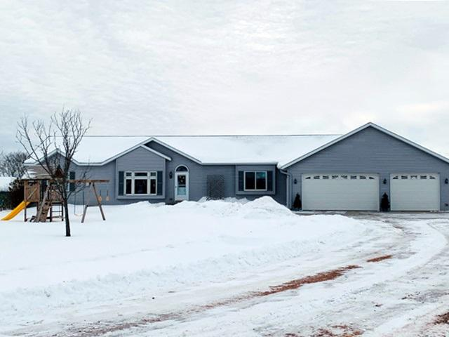 Get a jump on the Spring Rush! Ranch Home with Outbuilding and 45 Acre Parcel will not be on themarket long! Add on a breathtaking view of the sandy beach from your large deck, lots of swimming, pond stocked with crappie, bluegill and bass, and a new 36x56 outbuilding ready for a horse set up. Heated tack room, 14? lean to on each side, and 120x220 riding arena. This Immaculate 3 bdrm, 2.5 bath home built in 2004 is move in ready! Recently painted bdrms and baths. Master Suite with large walk incloset,,main floor laundry/mudroom, oversized attached 3 car garage with in floor heat, water for cleaning your cars and new stamped concrete patio for Summer BBQ?s! The LL walk out basement has unending possibilities, stubbed in for another bath, lots of windows for an additional family room as well. Don?t let this one slip away!