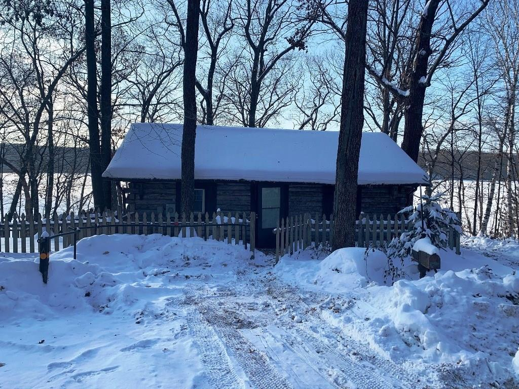 Great 1 acre wooded lot with 119 feet of frontage on 103 acre Somers Lake.  Great footprint cabin with 504 square feet.  And has a 40 x 40 garage to store the toys in.