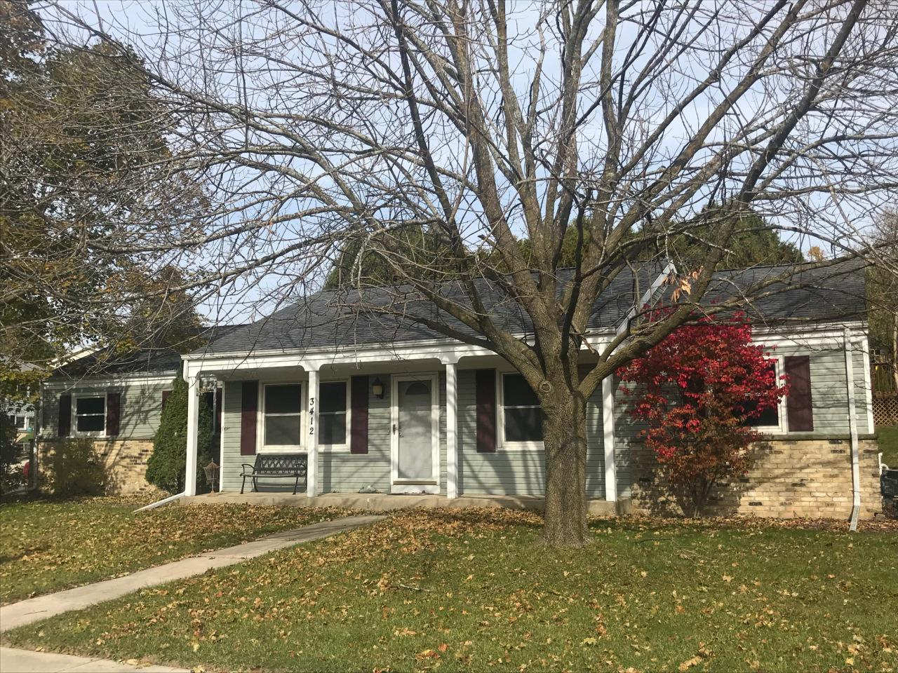 This well kept 3 bedroom, 2 bath Ranch is located in a wonderful neighborhood. Large eat in Kitchen overlooks backyard.  Spacious living room has South facing window and is warm and bright. Fresh vinyl siding in September of 2018. Situated close to everything with easy access to Hwy 33 and Hwy 45. Over-sized garage and large corner yard with mature trees.