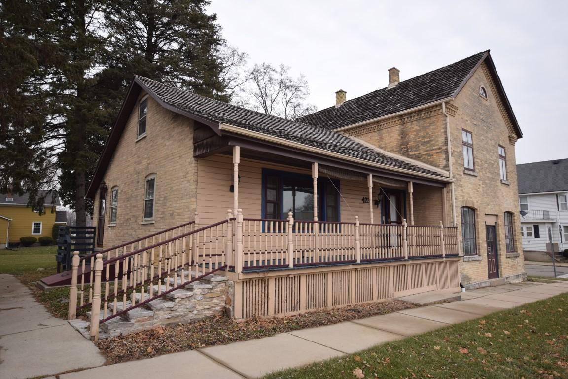 Come see this charming 3 BR, 2 BA cream city brick house in downtown Newburg with huge lot.  Features include beautiful hardwood floors, exposed brick walls, six panel doors, and nice room sizes throughout. Upper level has a huge master bedroom and massive full bath with separate tub and walk in shower.  Nice sized covered porch leads to huge backyard with storage shed.  Call today!
