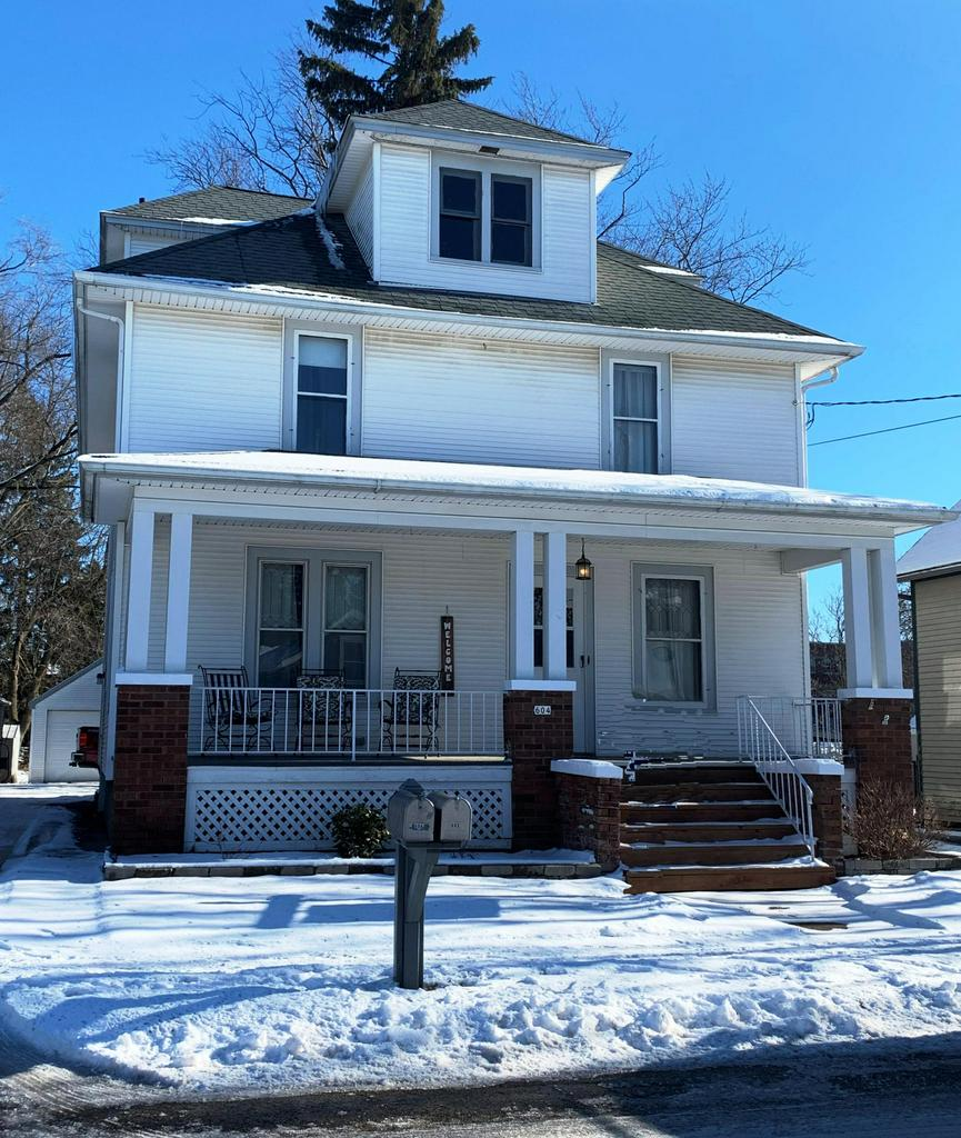 Only the sellers need to relocate makes this home available! Beautifully restored home while keeping the original Victorian charm!  Old world character, rich woodwork & stunning staircase.  Completely updated kitchen with slate floors and huge butler's pantry.  Main floor den/office, very open layout on the main level.  Custom remodeled main floor full bath as well as a half bath on the lower level.  4 spacious bedrooms with gleaming original hardwood floors.  Cute screened in rear porch overlooking the back  yard.  Massive front porch to relax and enjoy the evening!