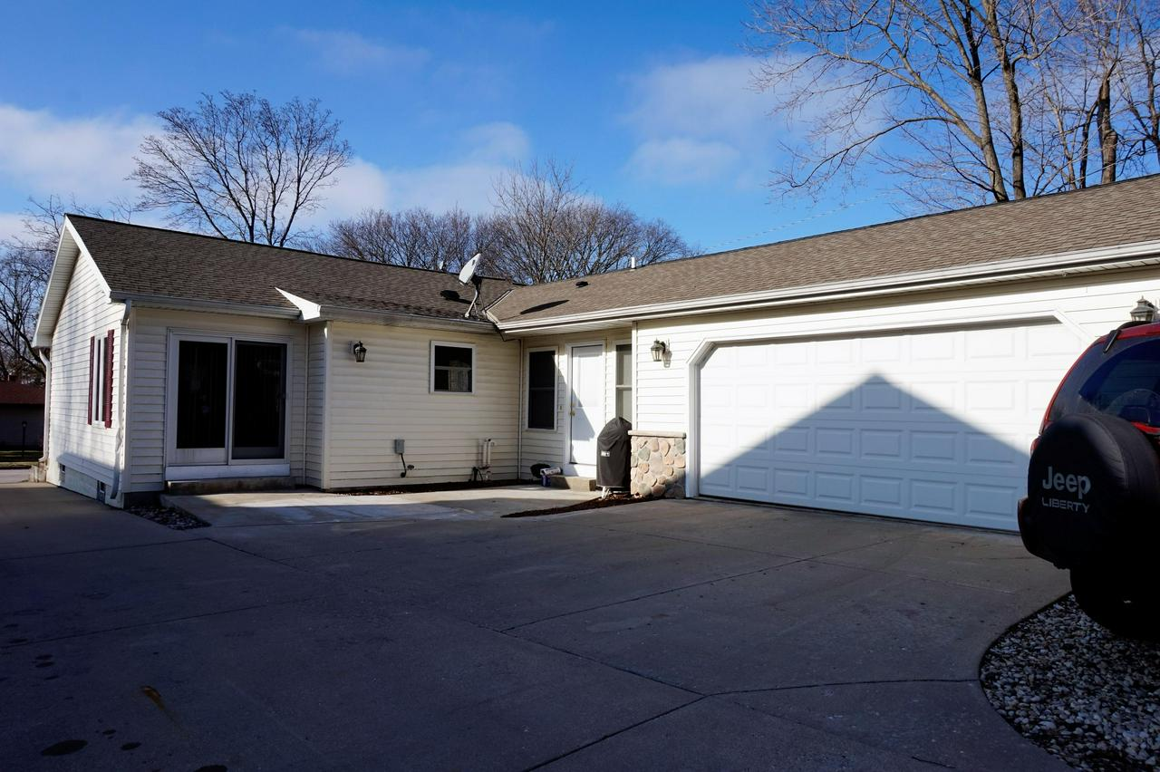 Nicely updated Ranch in convenient Waukesha location. Master Bedroom has private bath and walk-in closet.   Additional full bath adjacent  to additional two bedrooms. Updated kitchen is open to living and dining space. Nice hallway leads to 1/2 bath, MAIN floor laundry and an attached 2.5 car garage.  All major mechanicals including, roof, furnace installed in 2007; per seller.