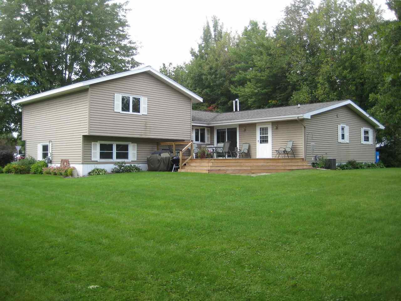 Move in ready 4 bedroom (2 master suites), 3 bath home located in the City of Medford. Updated kitchen with new black stainless steel appliances. Features a main floor master addition with walk-in closet, private full bath with 6? whirlpool tub, main floor laundry, large dining/kitchen area and living room with wood burning fireplace. Forced air gas furnace and central air. Finished lower level family room with look out windows. The refrigerator, stove, microwave, dishwasher, washer, dryer, window treatments and storage shed are included in the sale price.