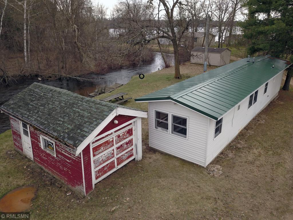 140 feet of Horse Creek, which flows into Cedar Lake. Cheap way to start on this 1000 acre lake. Cabin, ice fish, snowmobile, or make it yours,design a 500 sq ft tiny house!