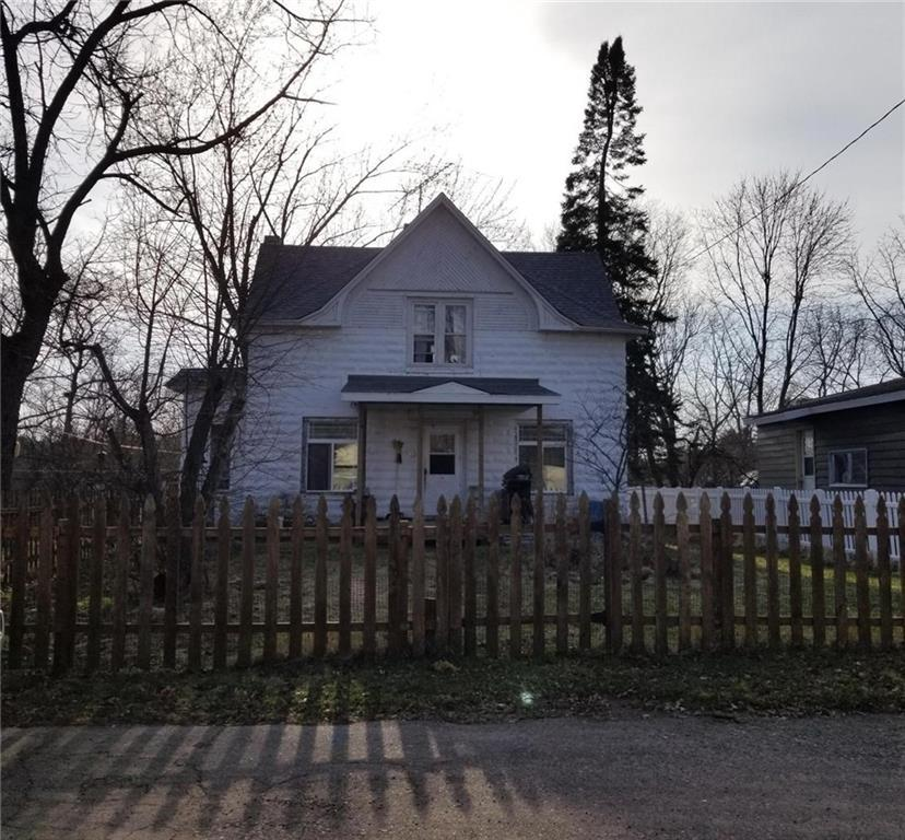 This home is in a great location at the end of a dead-end road with a wooded lot located in Cameron.  Tons of potential. This solid home has many updates already done including new roof in 2017 & eaves 3 years old.  The furnace, electric, plumbing, most main level windows & upstairs bath completely gutted 8 years ago.  This will make a great home once the needed TLC is completed.  No warranties on appliances.