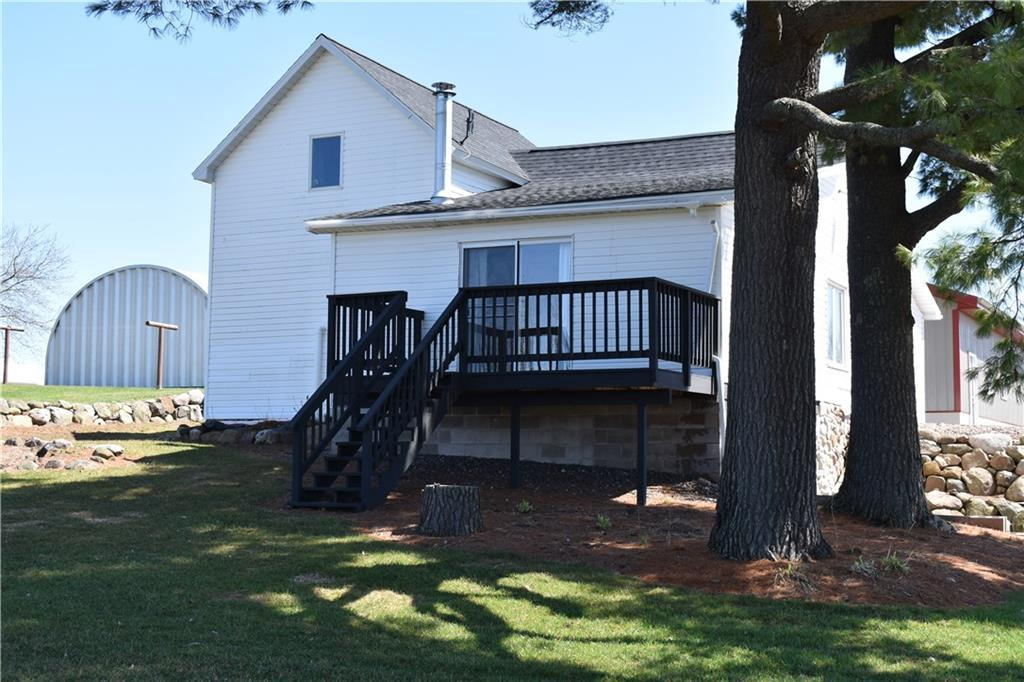 3 BR, 2 Bath 1 1/2 story home w/newer roof, furnace. Beautiful insul. 30x36 det. garage, 24x26 Quonset bldg, 30x40 older pole shed, 19 acres w/13 acres tillable, rest pasture. Home has many updates, huge kitchen w/pantry - all new appliances. Breakfast area, spacious living room w/frplc. In floor heat on lower & main level. Great for hobby farm enthusiast. Excellent schools, enjoy country bliss. Seller continues to make improvements- About 80% complete. Seller is very motivated!
