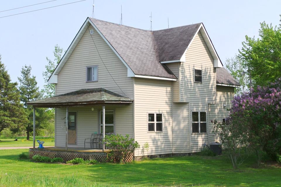 This 3 bedroom, 2 bath country farm style home is situated on 2 acres of land. It has first floor laundry and plenty of living space for your family.